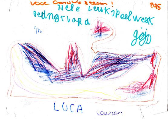 Tekening Gijs en Luca